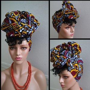 African head wrap/ Fabric head wrap Scarf